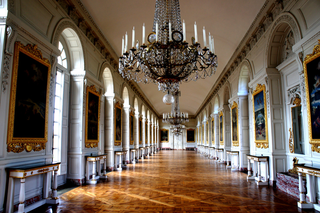 Hall at Versailles Palace